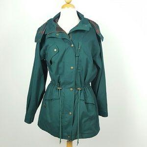 Eddie Bauer Women's Green  RAIN WIND JACKET Coat H